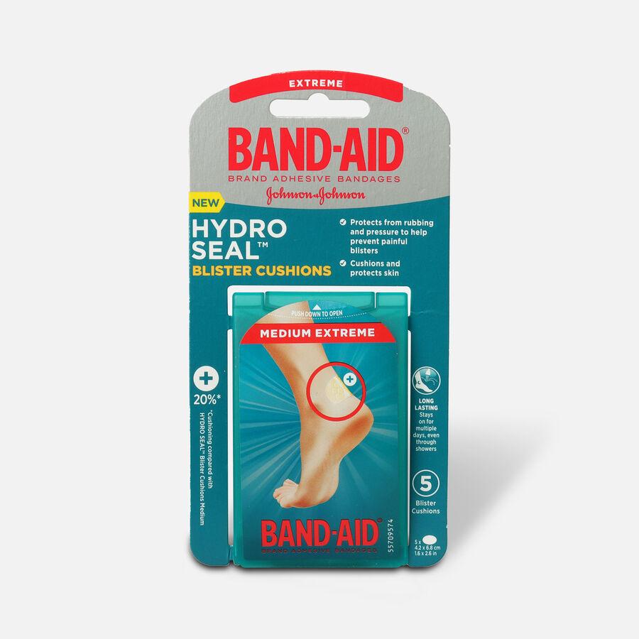 Band-Aid Hydro Seal Blister Cushion Bandages, Waterproof Adhesive Pads, Medium, 5 ct, , large image number 0