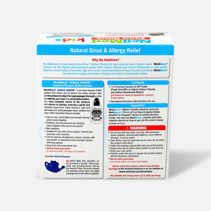 NeilMed Sinus Rinse Pediatric Packets, 120 ea, , large image number 1