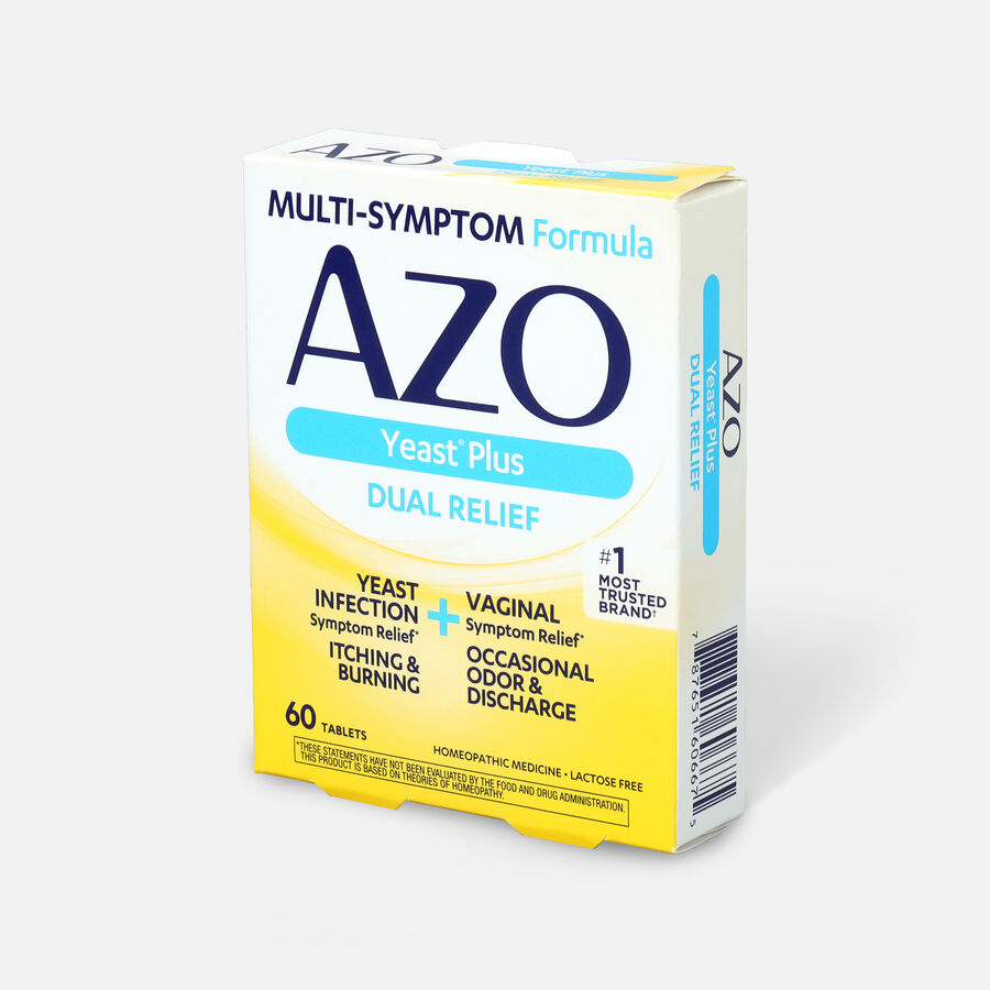 AZO Yeast, Natural Symptom Prevention & Relief, 400mg, Tablets, 60 ea, , large image number 2
