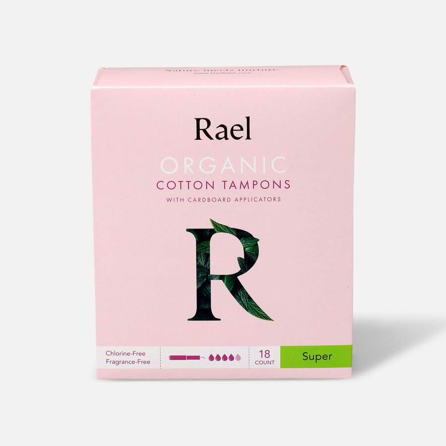 Rael Organic Cotton Tampons with Cardboard Applicator, , large image number 1