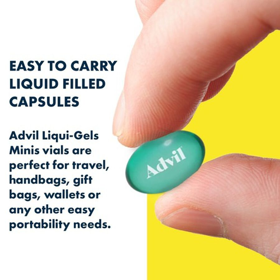 Advil Pain Reliever Fever Reducer Mini Liquid Gels, 80 ct, , large image number 4