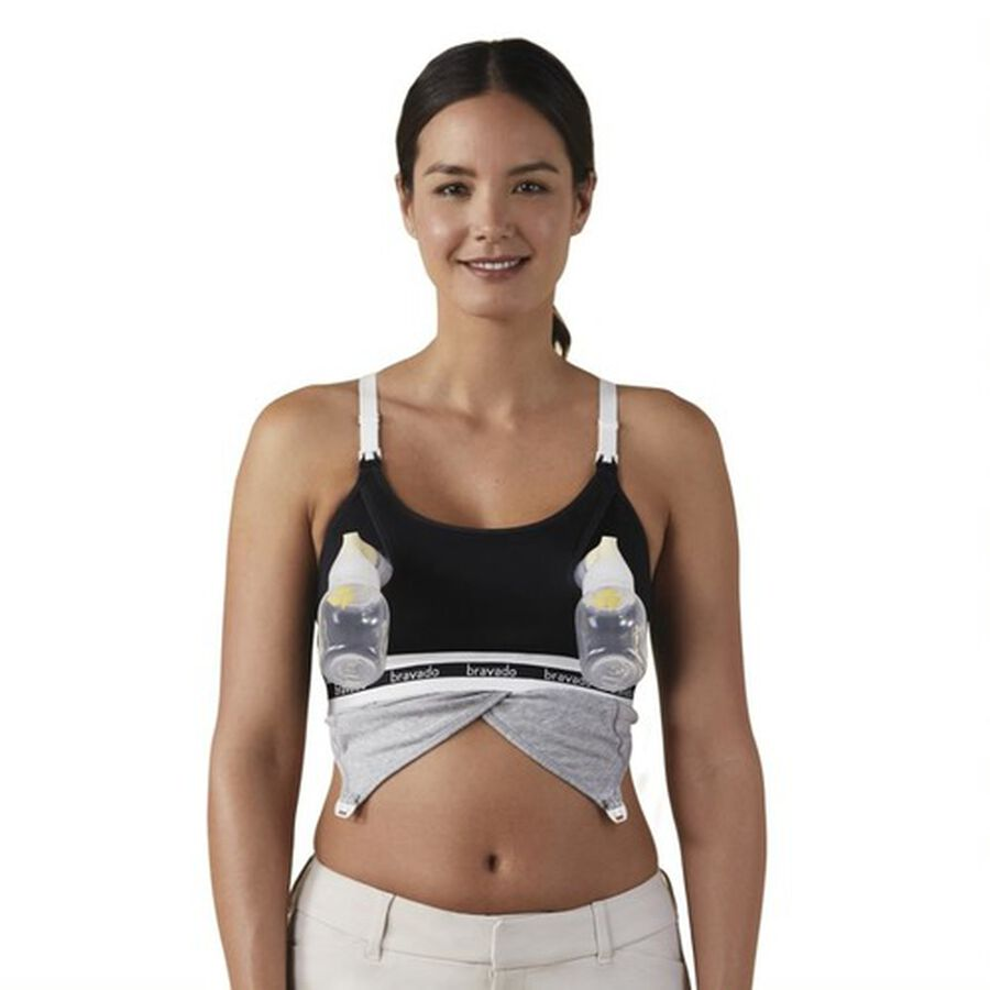 Clip and Pump Hands-Free Nursing Bra Accessory, Black, , large image number 2