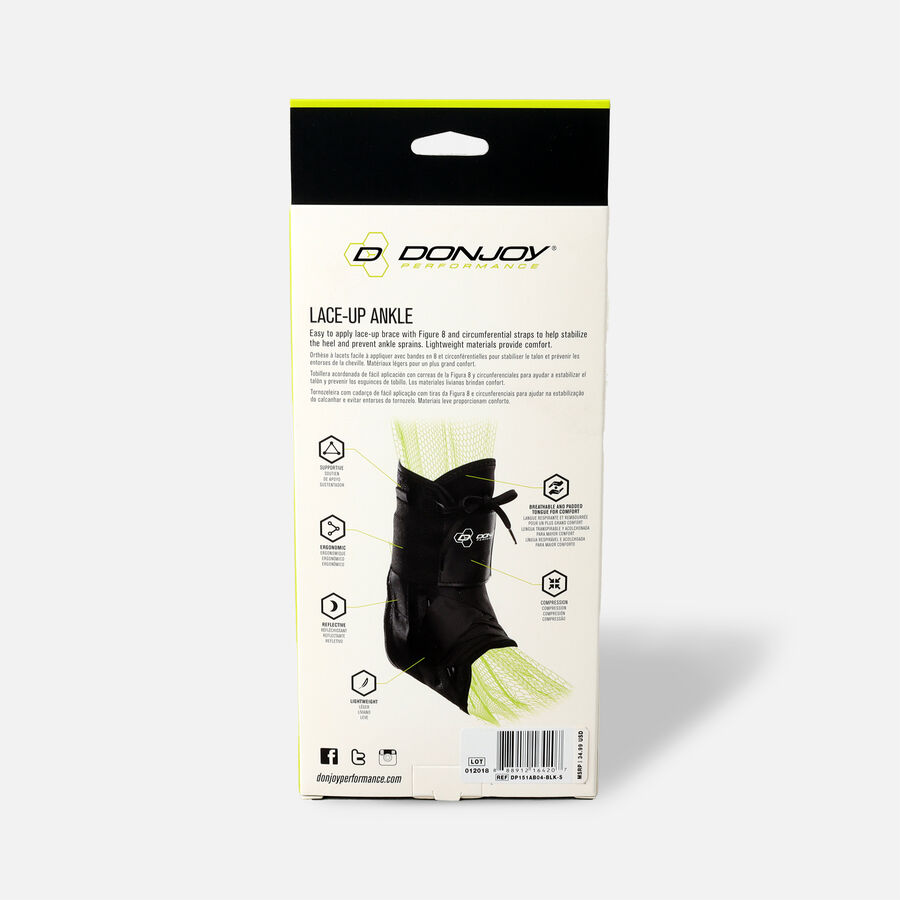 DonJoy Performance ANAFORM Lace-Up Ankle Brace, Black, X-Small, , large image number 3