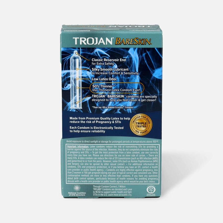 Trojan Sensitivity Bareskin Premium Latex Condoms, 10 Ea, , large image number 1