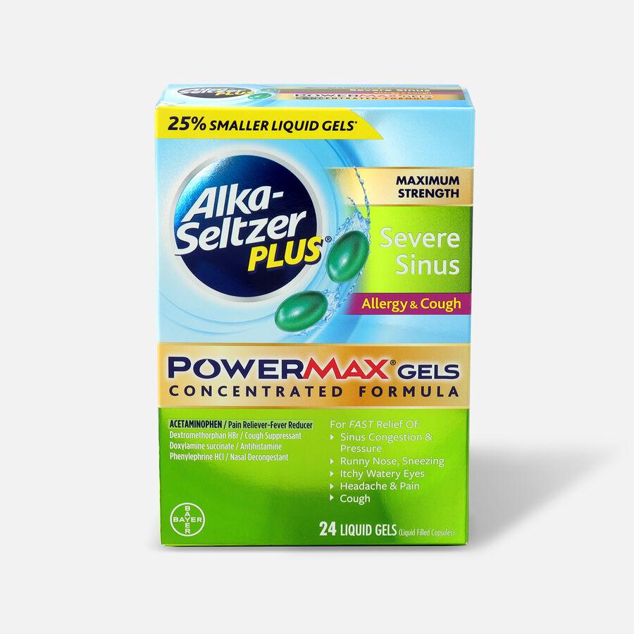 Alka-Seltzer Plus PowerMax Gels, Severe Sinus, Allergy & Cough, 24ct, , large image number 0