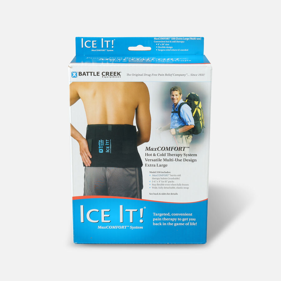 """Battle Creek Ice It! Deluxe Wrap With Cover & Strap, Model 550, 9"""" x 20"""", 1 ea, , large image number 0"""