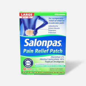 Salonpas Pain Relieving Patch, Large, 9 ct.