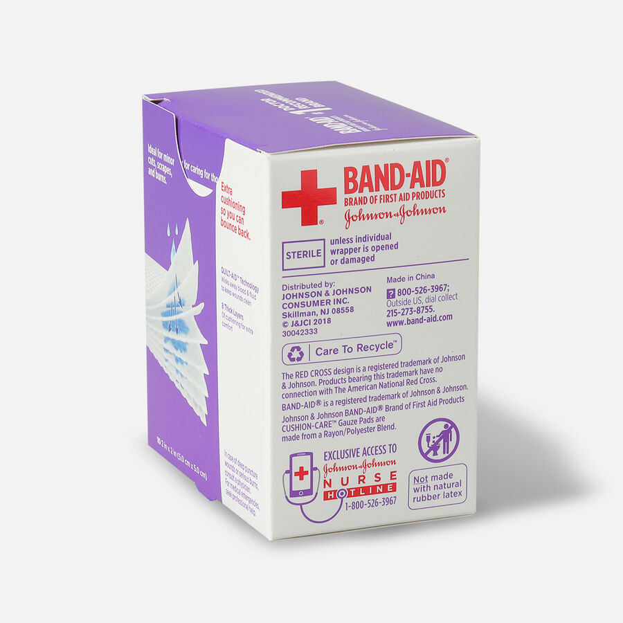 """Band-Aid First Aid Gauze Pads 2""""x2"""", , large image number 4"""