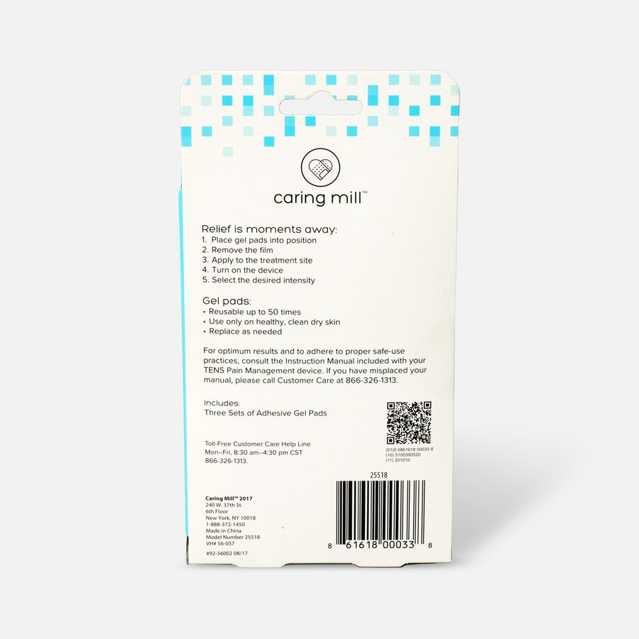 Caring Mill® Wireless Tens Therapy Refill- 3pk, , large image number 1
