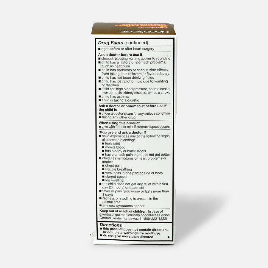 GoodSense® Children's Ibuprofen 100 mg/5 ml Oral Suspension Berry, 4 fl oz, , large image number 1