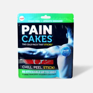 "PainCakes Stick & Stay Cold Packs. 5"", Red"