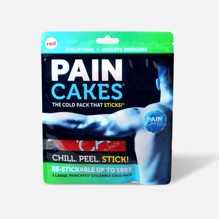 "PainCakes Stick & Stay Cold Packs. 5"", Red, , large image number 0"