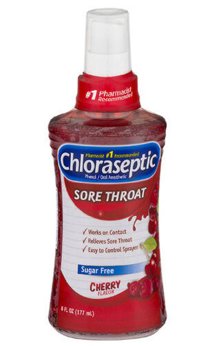 Chloraseptic, Cherry, Sore Throat Spray, 6oz