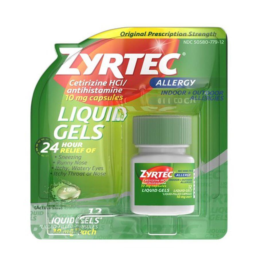 Zyrtec Allergy Liquid Caps, , large image number 0