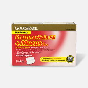 GoodSense® Pressure + Pain PE + Mucus Relief Adult Caplets, 24 ct
