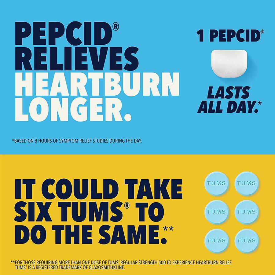 Pepcid AC Acid Reducer Original Strength Tablets, 90 ct, , large image number 3