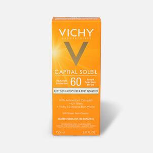 Vichy Idéal Capital Soleil SPF 60 Ultra-Light Body and Face Sunscreen with Antioxidants, 5.0 Fl. Oz.
