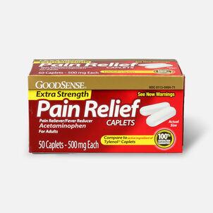 GoodSense® Pain Relief Extra Strength 500 mg Caplets, 50 ct