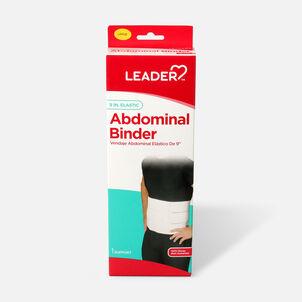 """Leader Abdominal Binder 9"""", White, Large"""
