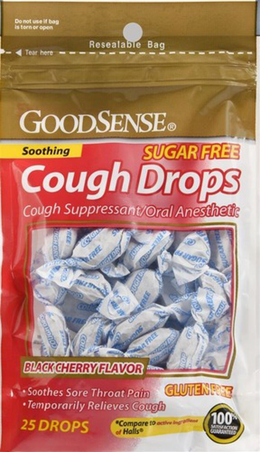 GoodSense® Cough Drops Sugar Free, Black Cherry 25 ct, , large image number 0