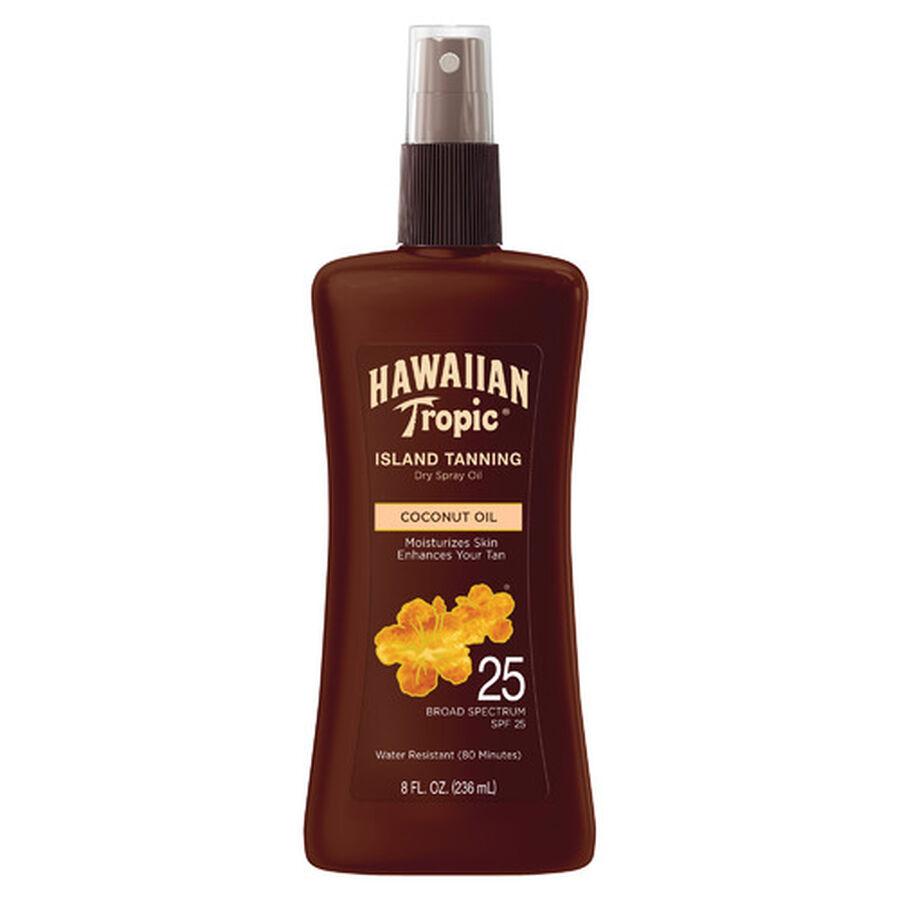 Hawaiian Tropic Dry Pump Spray Oil, 8oz., , large image number 0