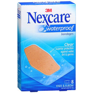 Nexcare Waterproof Clear Bandage, Elbow and Knee, 8ct.
