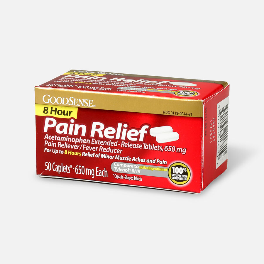 GoodSense® 8 Hour Pain Relief Acetaminophen Extended-Release Caplets, 650 mg, 50 ct, , large image number 2