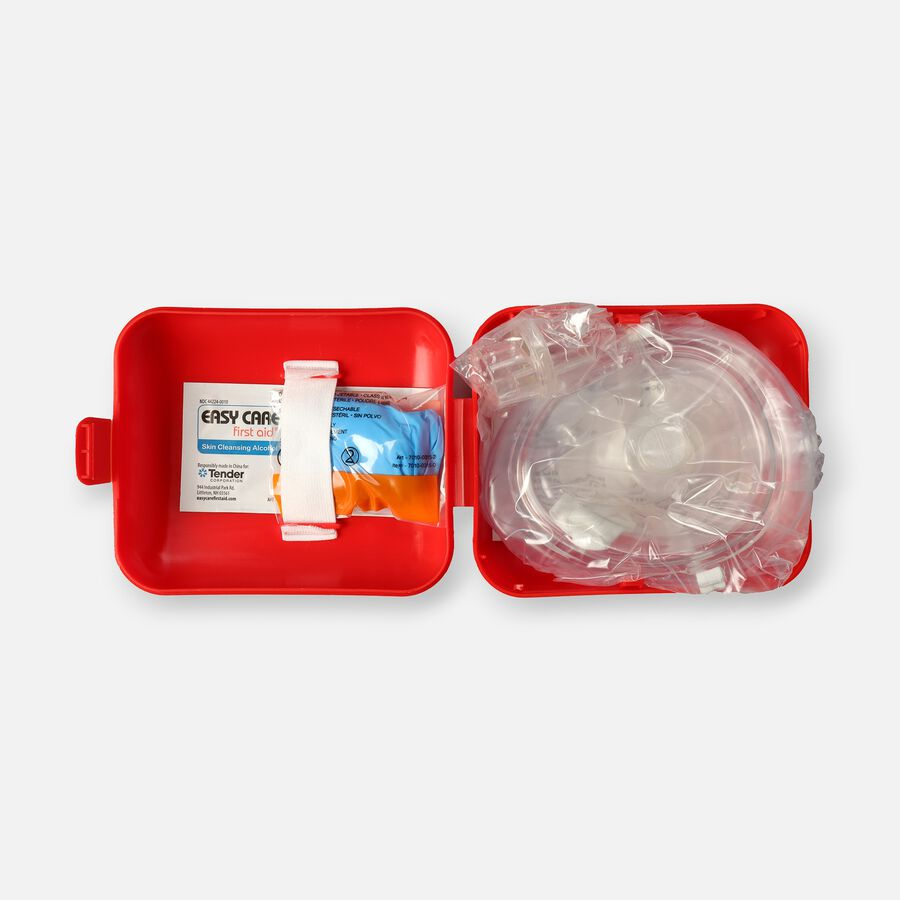 Genuine First Aid Portable CPR Mask, Hard Case, , large image number 0