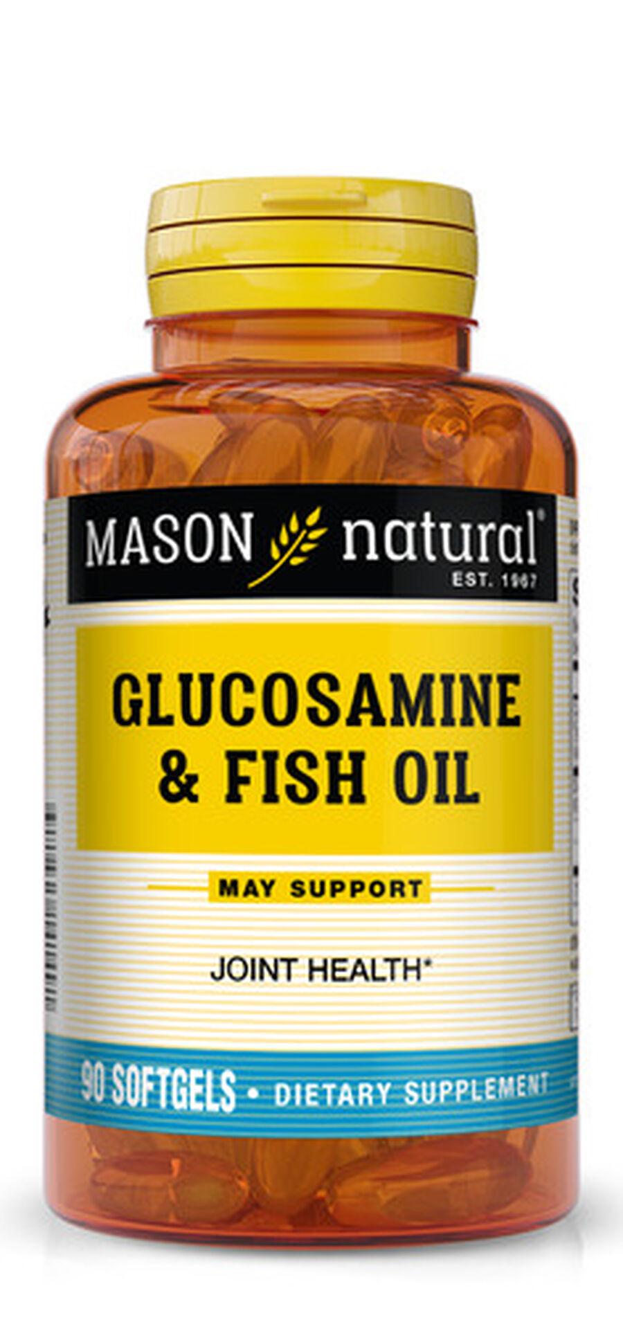 Mason Vitamins Natural Glucosamine & Fish Oil,  90 softgels, , large image number 0