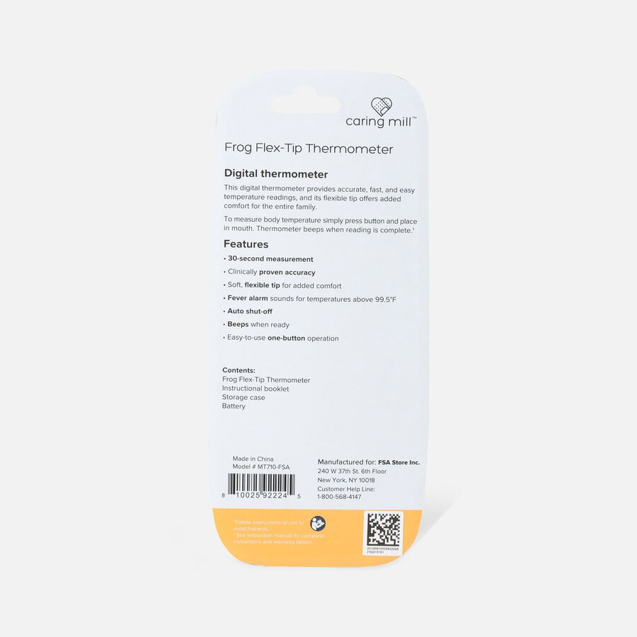 Caring Mill® FROG Thermometer- 30 Second / Flex Tip, , large image number 2