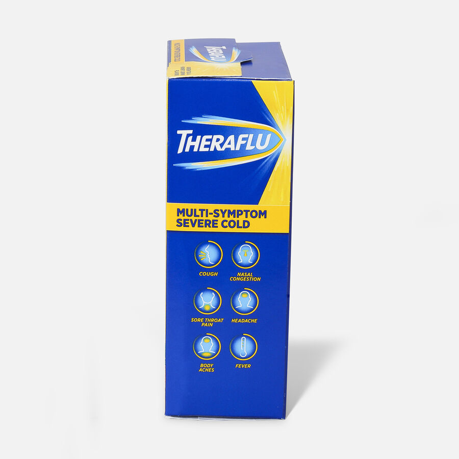 Theraflu Multi-Symptom Severe Cold Hot Liquid Powder Tea Infusions, Green Tea and Honey Lemon Flavors, 6 ct, , large image number 4