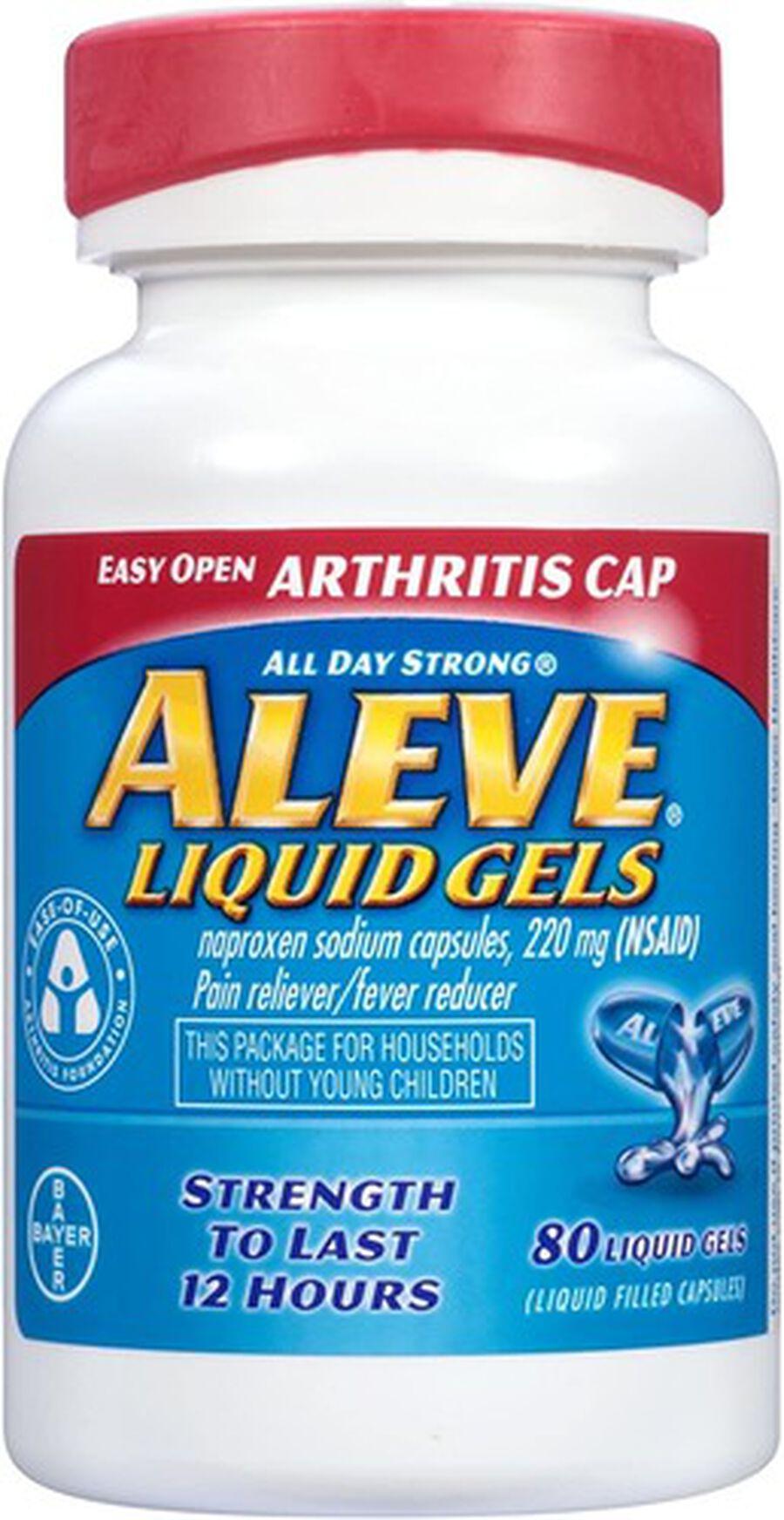 Aleve Arthritis Liquid Gels, Easy Open Cap, 80ct, , large image number 4