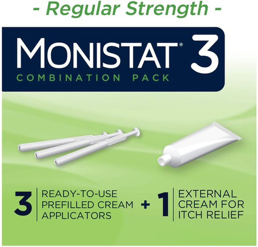 Monistat 3, Cure and Itch Relief, Prefilled Cream, , large image number 2