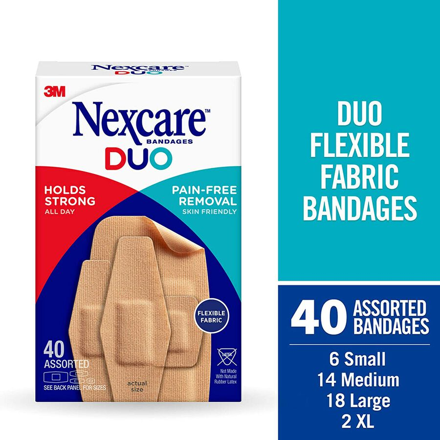 Nexcare DUO Bandage, Assorted, 40ct, , large image number 1