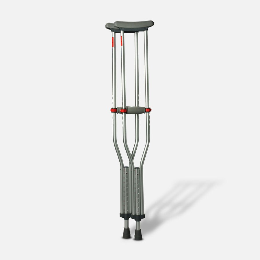 Medline Red Dot Button Crutches - 1 Pair, , large image number 0