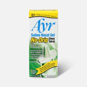 Ayr Saline Nasal Gel, No-Drip Sinus Spray, .75 fl oz