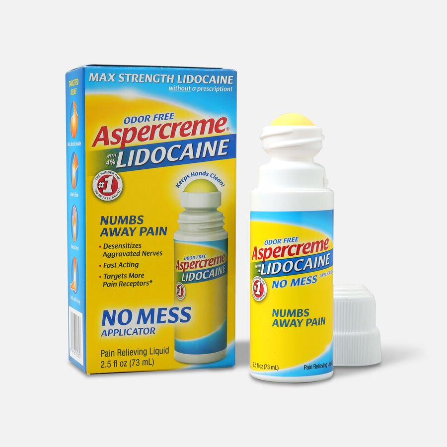 Aspercreme No Mess Roll-On with 4% Lidocaine, 2.5 fl. oz., , large image number 2