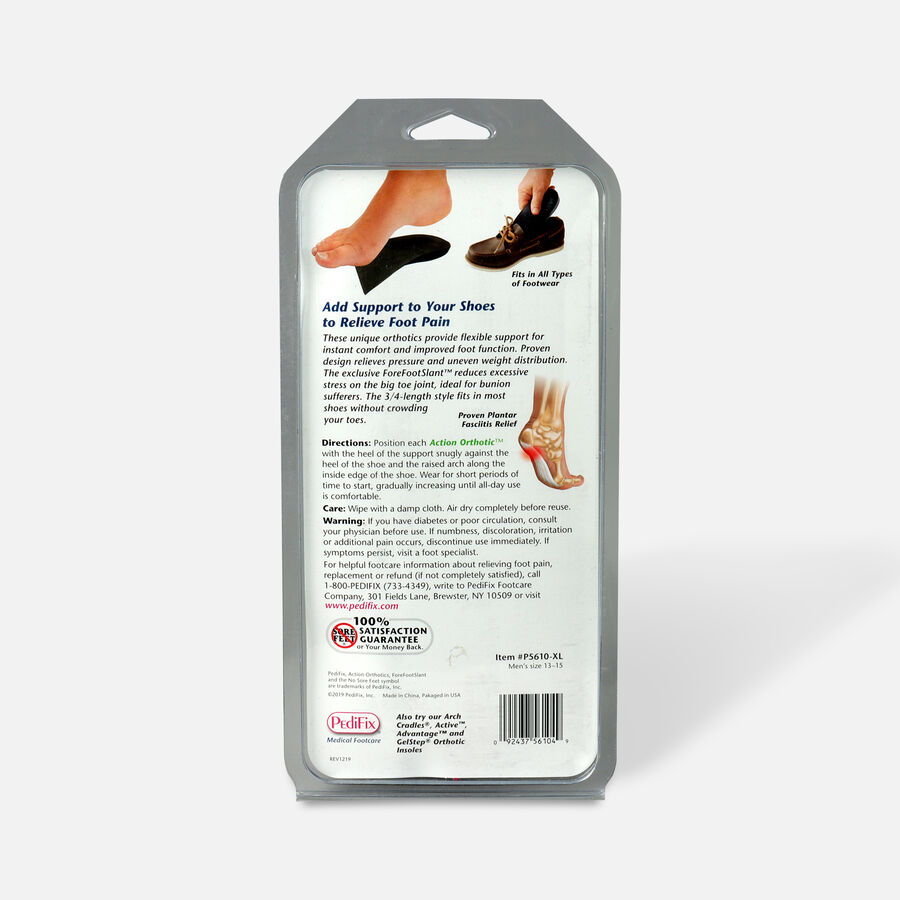 Pedifix Action Orthotics 3/4 Length Arch Support, , large image number 3