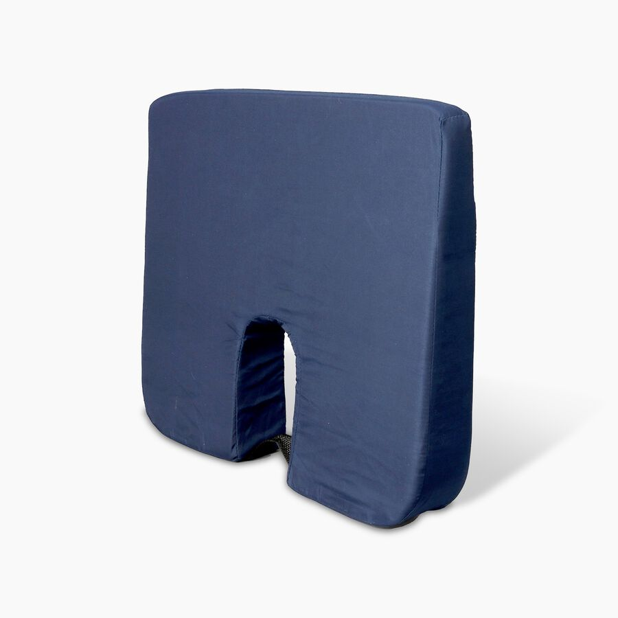 Foam Seat Cushion for Coccyx Support, 18 x 14 x 1.5 to 3 inches, Navy, , large image number 2