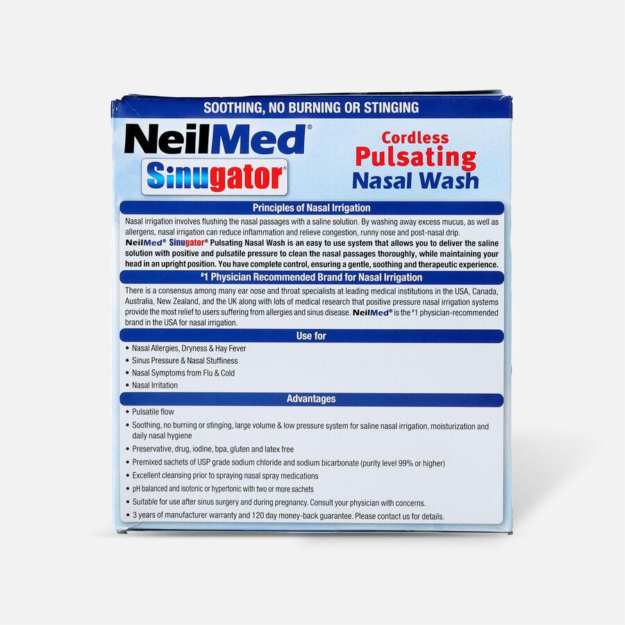 NeilMed Sinugator Cordless Pulsating Nasal Wash with 30 Premixed Packets, 1 set, , large image number 1