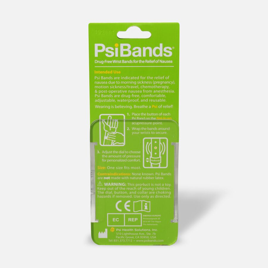 Psi Bands Nausea Relief Wrist Bands - Crystal Clear, , large image number 1