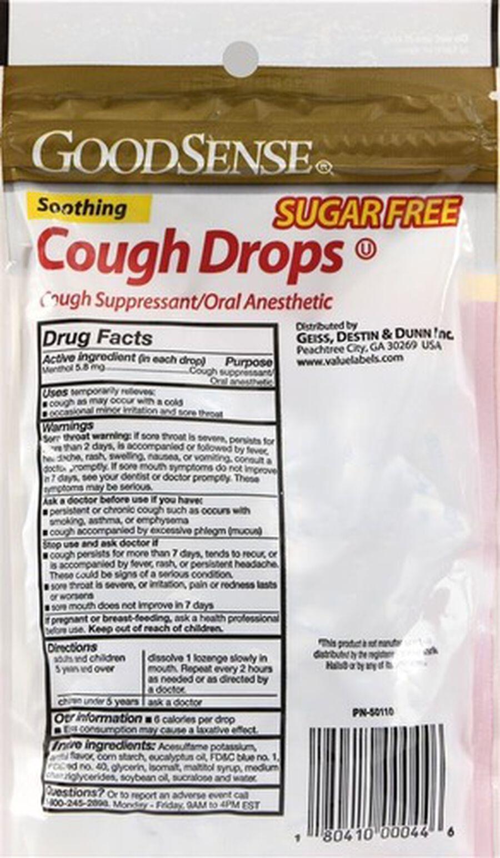GoodSense® Cough Drops Sugar Free, Black Cherry 25 ct, , large image number 1