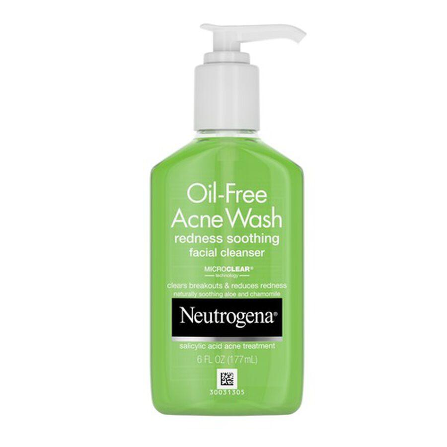 Neutrogena Oil-Free Redness Soothing Acne Wash, 6oz, , large image number 0