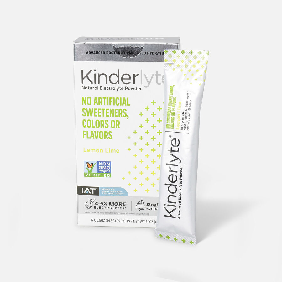 Kinderlyte Advanced Electrolyte Powder, 6 Count, , large image number 0