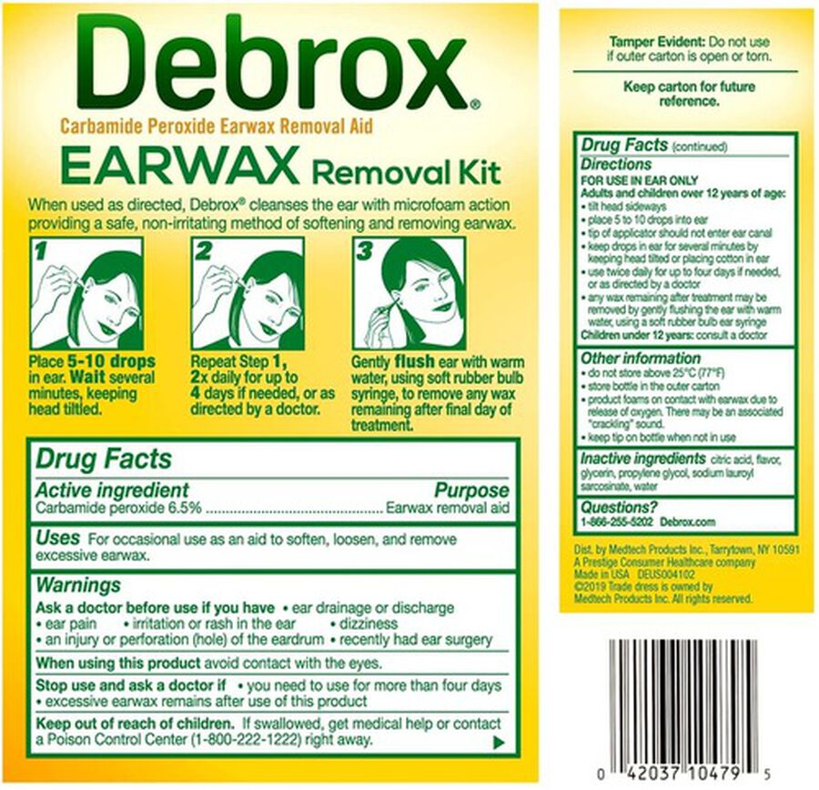 Debrox Earwax Removal Kit, , large image number 1