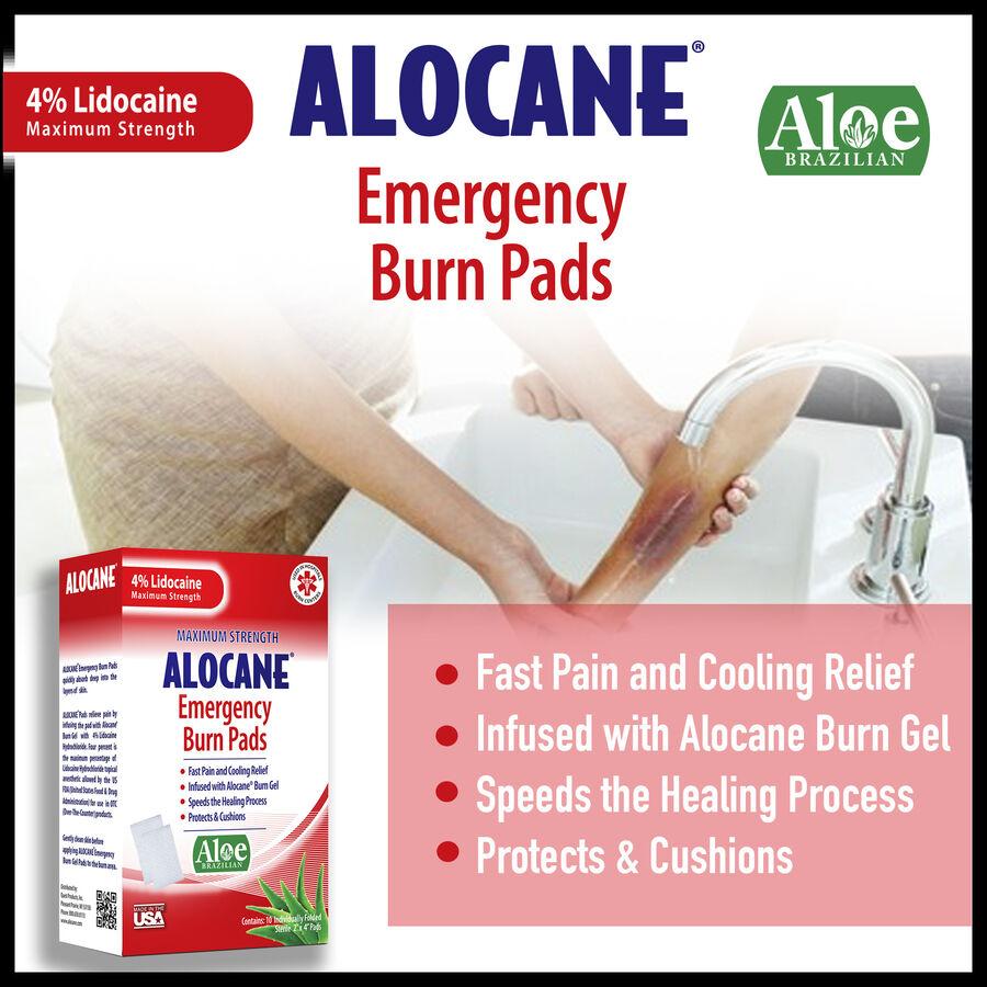 Alocane Maximum Strength Emergency Burn Pads, 10 ct, , large image number 3