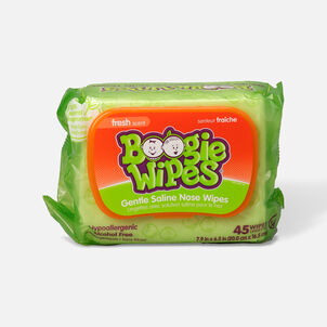 Boogie Wipes Saline Nose Wipes, Fresh Scent, 45 ea