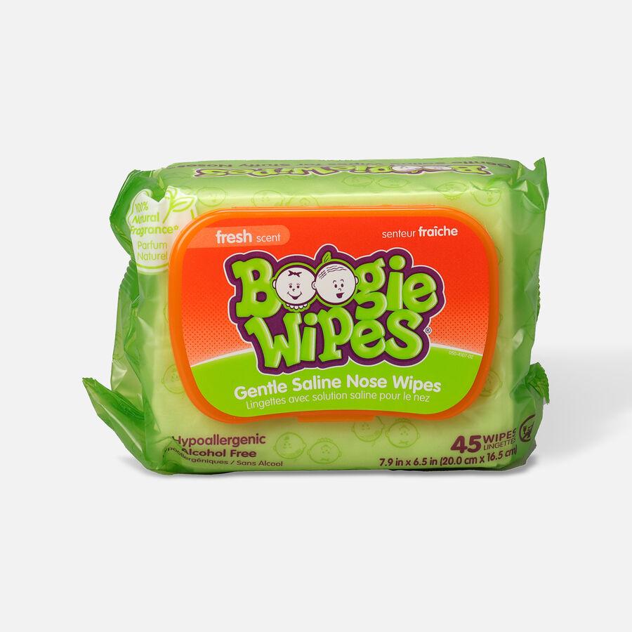 Boogie Wipes Saline Nose Wipes, 45 ea, , large image number 0