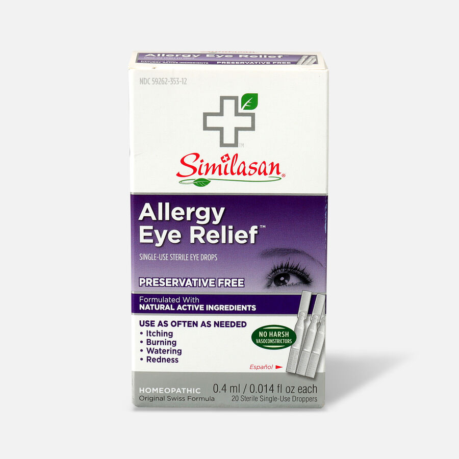 Similasan Allergy Eye Relief, 20 Single Use Droppers, 0.015 fl. oz., , large image number 0