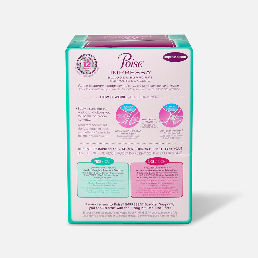 Poise Impressa Bladder Supports for Women, 21 Count, , large image number 5